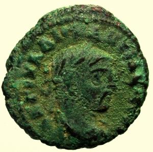 obverse: Provincia Romana. Massimiano Erculeo. 285-310 d.C. Tetradracma. Ae. : D\ Testa laureata verso destra. R\ Aquila. Peso 6,79 gr. Diametro 20 mm. BB. Patina verde.