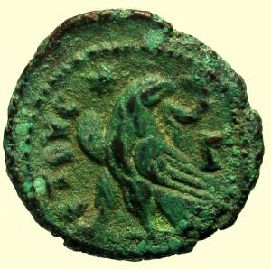 reverse: Provincia Romana. Massimiano Erculeo. 285-310 d.C. Tetradracma. Ae. : D\ Testa laureata verso destra. R\ Aquila. Peso 6,79 gr. Diametro 20 mm. BB. Patina verde.