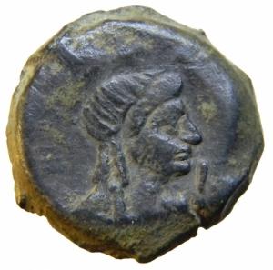 reverse: Impero Romano. Vespasiano. 69-79 d.C. Tetradracma. AR. Alessandria. D/ Testa laureata verso destra. R/ testa di Iside verso destra. Dattari 382. Peso 13,00 gr. Diametro 24,65 mm. BB+.^^^