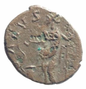 reverse: Barbari.Imitativa degli imperatori Romano Gallici.Tetrico II.Salus.Peso 1,50 gr.Diametro 13,50 gr.BB+