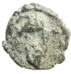 obverse: Barbari . I Vandali in nord Africa. Guntamundo. 484-496 d.C. Nummus imitativo. AE. D/ Pseudolegenda. Busto a destra. R/ Cristogramma. Globetti nei settori. Tutto entro corona d alloro. Cfr. M. Ladich, Cr. Num.17, p.14, n.12. Wroth 161. Arslan 7. Peso gr. 0.6. Diametro mm. 10,2. MB\BB. RR.