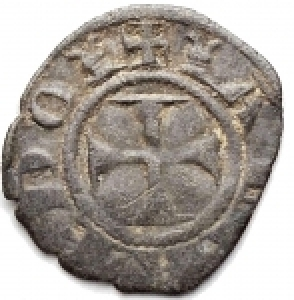 reverse: Zecche Italiane - Siena.Repubblica (1180-1390).Denaro piccolo con rosette.MI.gr 0,52.RRRR.Buone condizioni per la rarissima tipologia