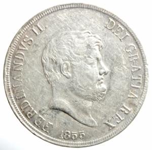obverse: Zecche Italiane. Napoli. Ferdinando II. 1830-1859. 120 grana 1855. AG. P.R. 84. MIR 503/4. BB