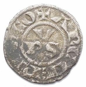 obverse: Zecche Italiane -Ravenna.Anonime Arcivescovili (1232-sec.XIV).Denaro.Biaggi 1965.MI.gr. 0.49. mm 15,8.BB.