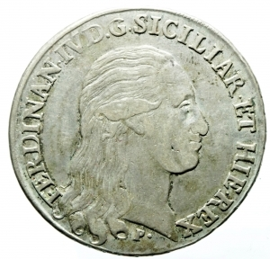obverse: Zecche Italiane. Napoli. Ferdinando IV (I periodo 1759-1799). 120 grana o piastra 1796. AR. MIR 373/1. P.R. 62. BB.