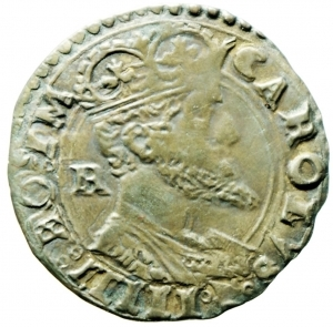 obverse: Zecche Italiane. Napoli. Carlo V. 1516-1556. Carlino. AG. P.R. 36c. MIR 148/3. Peso gr. 2.91. BB. NC.