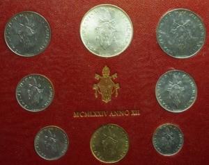 obverse: Zecche Italiane. Vaticano. Paolo VI 1974. Serie in confezione originale.