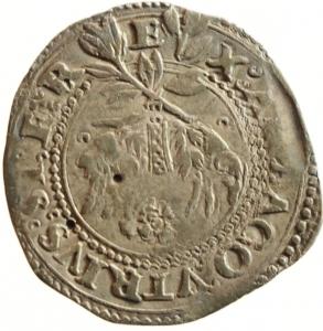 reverse: Zecche Italiane. Napoli. Carlo V. 1516-1556. Carlino. AG. P.R. 36c. MIR 148/3. Peso gr. 2.87. Bel BB/BB. Schiacciature da conio. NC.