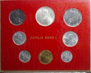 obverse: Zecche Italiane.Vaticano . Giovanni XXIII. Serie 1959 Anno I. 8 pezzi. FDC