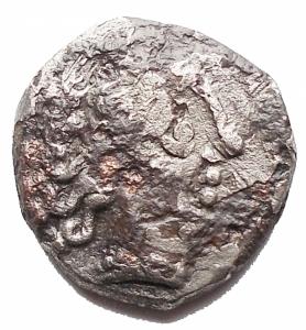 obverse: Celti - Dracma Padana Suberata da catalogare. gr 2,7. mm 14,2 x 14,7