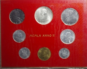 obverse: Zecche Italiane .Vaticano. Giovanni XXIII. Serie 1960 Anno II. 8 pezzi. FDC