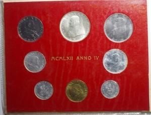 obverse: Zecche Italiane.Vaticano .Giovanni XXIII. Serie 1962 Anno IV. 8 pezzi. FDC