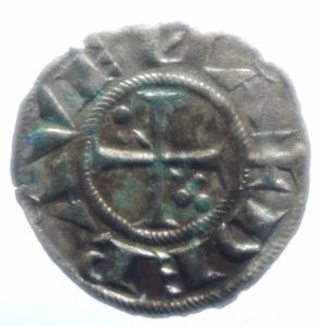 reverse: Zecche Italiane . Ravenna. Anonime Arcivescovili. sec.XIII-XIV. Denaro. CNI 7/13. MI. Peso gr. 0,55. BB+.***