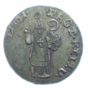 obverse: Zecche Italiane.Ragusa.1801 da 6 Grossetti .Peso 2,10 gr.Diametro 21,00. BB+.***