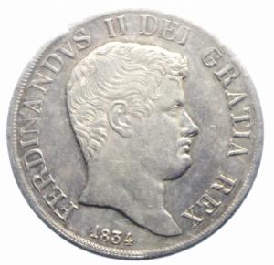 obverse: Zecche Italiane. Napoli. Ferdinando II di Borbone. 1830-1859. Piastra 120 Grana 1834. AR. P/R 58. MIR 499/4. BB+.***