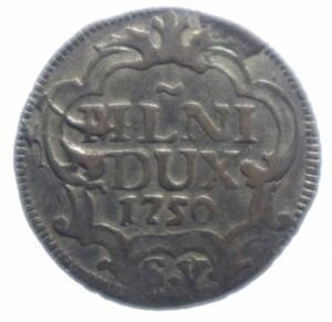 reverse: Zecche Italiane. Milano. Maria Teresa d Asburgo. 1740-1780. 5 soldi 1750. MI. Cr. 11/C. BB. R.***