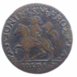 obverse: Zecche Italiane. Piacenza. Francesco Farnese (1694-1727). 10 soldi. MIR 1182. MI. g.3,75BB.***
