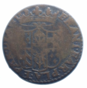 reverse: Zecche Italiane. Piacenza. Francesco Farnese (1694-1727). 10 soldi. MIR 1182. MI. g.3,75BB.***