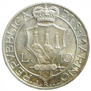 reverse: San Marino. Antica Monetazione. 10 Lire 1935. qFDC