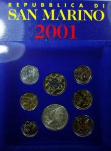 obverse: San Marino. Serie 2001. In Confezione Originale. FDC.