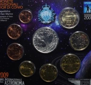 obverse: San Marino. Nuova monetazione. Serie 2009. In Confezione Originale. FDC.