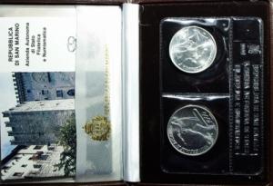 obverse: San Marino. 1987 Dittico. Universiadi di Zagabria. FS.