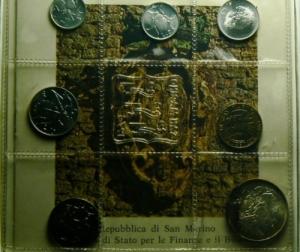 obverse: Zecche Italiane. San Marino. Serie 1974.Serie in confezione originale.