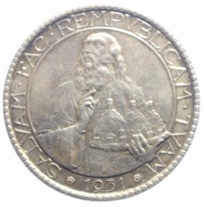 obverse: San Marino. 20 Lire 1931. qSPL. NC.***
