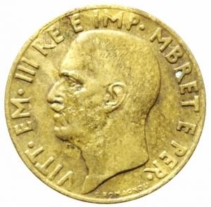 reverse: Casa Savoia. Albania. Vittorio Emanuele III. 1900-1943. 0,10 lek 1941. AE. Pag. 1006. Mont. 508. BB+. R. ex Tintinna 76 lotto 724 aggiudicato ma non pagato