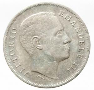 reverse: Casa Savoia. Vittorio Emanuele III. 1 Lira 1907 Aquila. Ag. Pagani 7767. BB+.