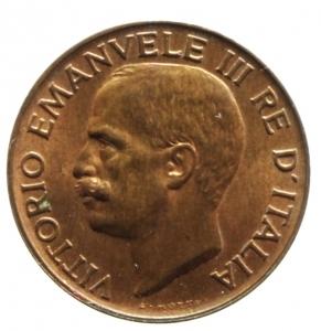 reverse: Casa Savoia. Vittorio Emanuele III. 5 centesimi spiga 1919. P.898. Peso 3,25 g. qFDC. Rame rosso. R.