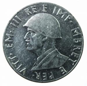 obverse: Casa Savoia.Albania. Vittorio Emanuele III. 1939-1943. 2 lek 1939 A. XVIII. AC.BB+.