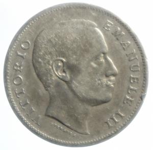 obverse: Casa Savoia.Vittorio Emanule III.Lira 1907.Ag.BB\qSPL