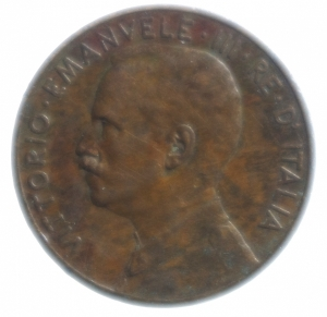 obverse: Casa Savoia .Vittorio Emanuele III. 5 Centesimi 1915 Italia su prora. Gig 261.BB.NC