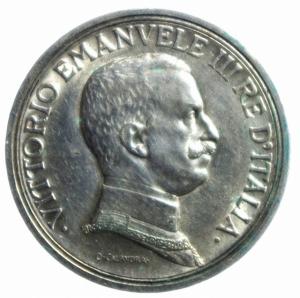 obverse: Casa Savoia. Vittorio Emanuele III. 1900-1943. 2 Lire 1916. Ag. qSPL