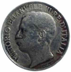 reverse: Casa Savoia. Vittorio Emanuele III. 1900-1946. 2 Lire 1911 Cinquantenario. Ag. MB