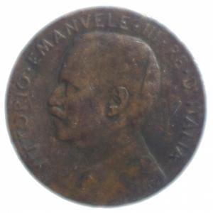 reverse: Casa Savoia. Vittorio Emanuele III. 2 Centesimi 1908 Italia su prora. MB. R.