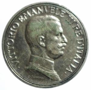 obverse: Casa Savoia. Vittorio Emanuele III. 2 Lire 1915 Quadriga Briosa. Ag. qSPL