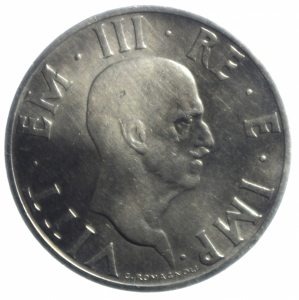 reverse: Casa Savoia. Vittorio Emanuele III. 1900-1943. 2 lire 1936 Anno XIV. NI. Pag. 754.BB\BB+. R.