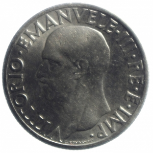 reverse: Casa Savoia. Vittorio Emanuele III. 1 lira 1936 Impero. Ni. Gig 153. BB\qSPL.