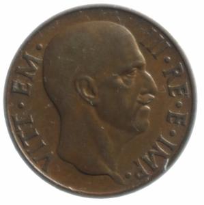 reverse: Casa Savoia. Vittorio Emanuele III. 5 Centesimi 1936 Impero. Ae. SPL. NC