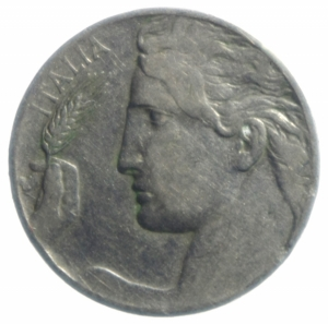 reverse: Casa Savoia. Vittorio Emanuele III. 20 centesimi 1919. Pagani 836. qBB. NC.