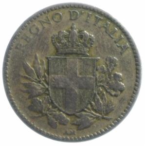 reverse: Casa Savoia. Vittorio Emanuele III. 20 Centesimi Esagono 1920.BB.