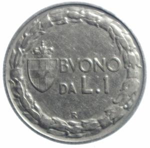 reverse: Casa Savoia. Vittorio Emanuele III. 1900-1943. Buono da 1 lira 1922. Ni. Pag. 776. BB