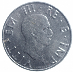 obverse: Casa Savoia. Vittorio Emanuele III. 1900-1943. 2 lire 1943 Anno XX. NI. Pag. 754.SPL. R.