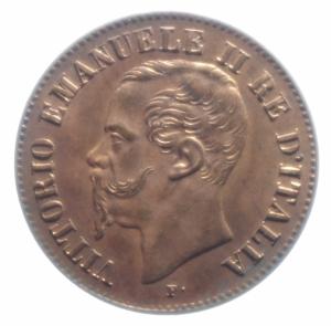 obverse: Casa Savoia. Vittorio Emanuele II. 2 Centesimi 1861 Milano. Pagani 557. FDC. Rame Rosso.***