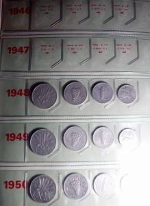 obverse: Repubblica Italiana.Collezione dal 1948 al 1972 comprese le serie 1968\69\70\71\72, 102 monete e 5 serie.