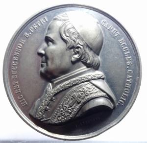 obverse: Medaglie Papali.Pio IX.1872.HIC EST SUCESSOR S.PETRI CAPUTECCLES. CATHOLIC.Peso 82,80 gr.Diametro 60,00 mm.SPL.***