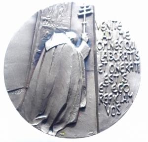 obverse: Medaglie Papali.Giovanni Paolo II (1978-2005), Karol Wojtyla di Wadowice. Medaglia per il Giubileo del 2000. VENITE AD ME OMEN QVI LABORATIS ET ONERATIESTIS ET EGO REFICIAM VOS. mm. 60.00 FDC.***