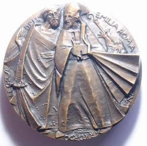 reverse: Medaglie Papali. Giovanni XXIII (1958-1963), Angelo Roncalli. Medaglia celebrativa.D/ SAN GIOVANNI XXIII 1881-1965 . Busto a sinistra, con zucchetto. R/ S.MARIA PERPETUO SUCCURSU. AE. mm. 51.00 Inc. FDC.***
